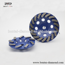 Diamond turbo cup wheels concrete
