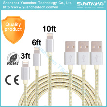 High Quality Fast Charging Data Charging USB Cable for iPad iPhone