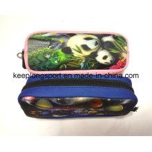 Full Colors Printing Neoprene Pencil Bag with Zipper Clised