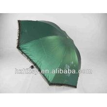 3 Folding Round Handle Summer Umbrella Lace Parasol