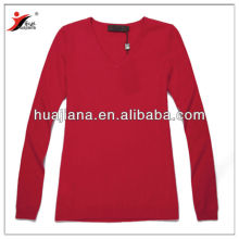women's 100% cashmere basic crewneck sweater