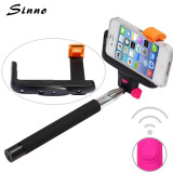Extendable camera wireless selfie stick with double systems