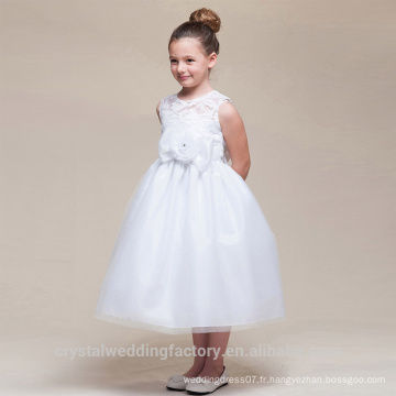 Enfants Mariage 2-12 ans À la mode Femmes Anniversaire Robe de bal à la dentelle Long Robe Fille Robes motif Enfants Fête usure LF06
