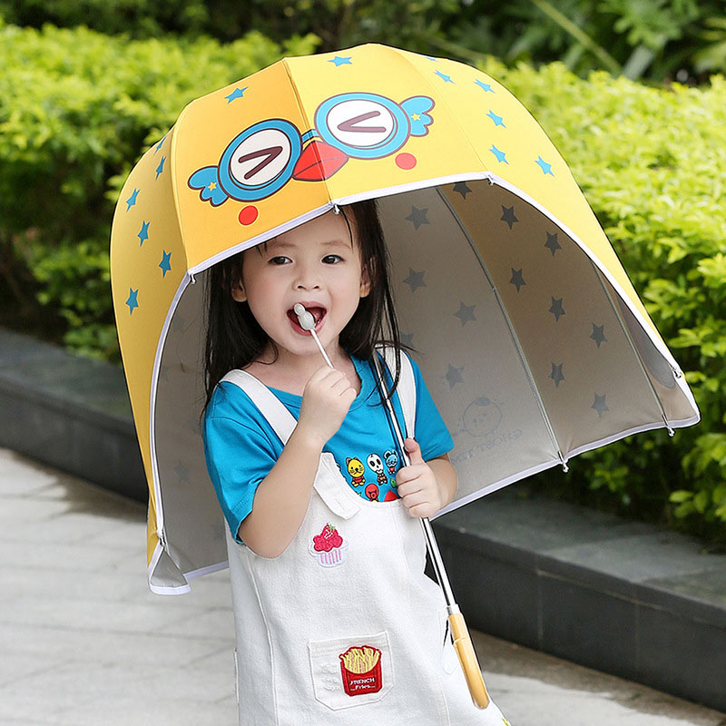 Dome sturdy helmet shaped rain kid umbrella02