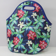 Sublimation printing flower neoprene lunch bag