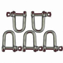 Stainless Steel Shackles, Meets DIN, European, US and JIS Standard Type
