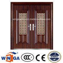 Fenêtre grande taille extérieur étanche à la sécurité porte métallique en acier (W-SD-04)