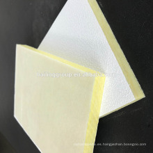 Panel acústico de techo de lana de fibra de vidrio de techo