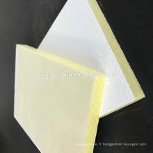 Panneau acoustique de tuile de plafond de fibre de verre de toit
