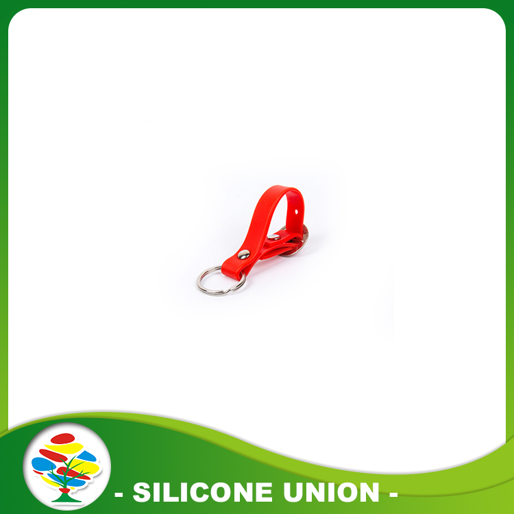 Red Custom Silicone Keychain