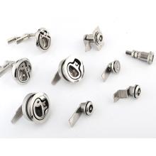 Industrial cabinet latch door cylinder lock set