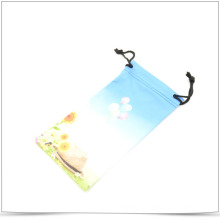 Double Side Drawstring Microfiber Transfer Printing Pouch for Phone