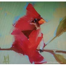 Peinture abstraite rouge d'oiseau