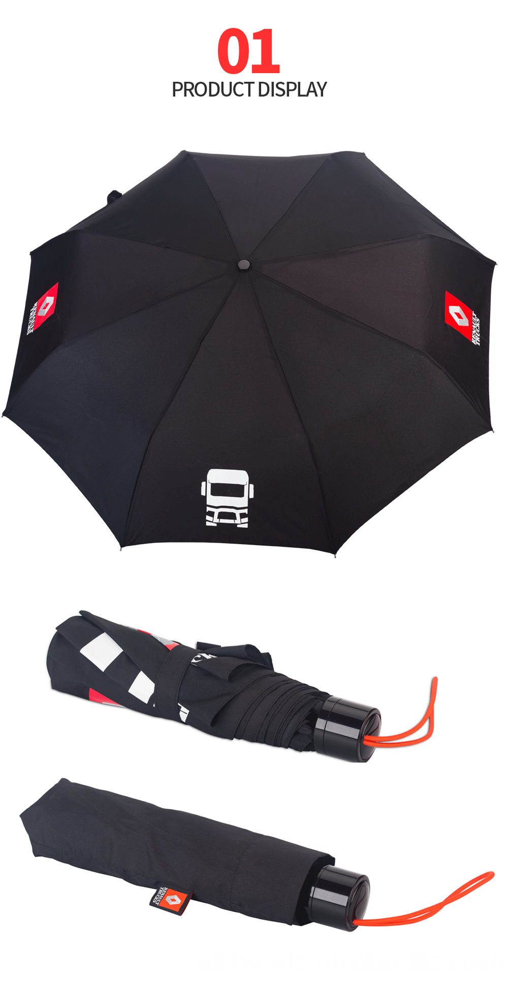 3 Folding Umbrella Promotional Umbrella
