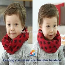 Moda cachecóis Cashmere tricotado pescoço quentes bandana magia brilhante malha lenço