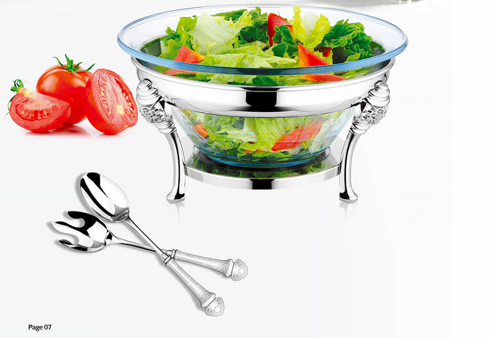 Saladeira Bowl Stainless Steel Food Warmer