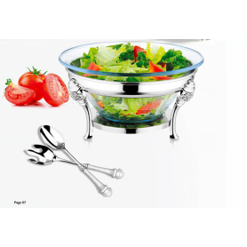 Salad Bowl Stainless Steel Food Warmer