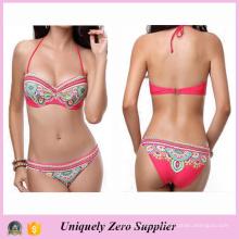 2016 American New Designs Mulheres Floral Imprimir Spaghetti Strain Backin Tankinis Bikini Swimwear