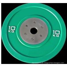 Todos os de borracha cor para-choques peso placa Barbell, peso de haltere (ush-13)