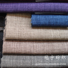 Polyester Sofa Linen Fabric with Thick Backing for Decoration