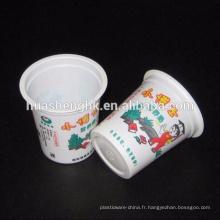 Tasse de plastique jetable d'impression claire faite sur commande de prise 6oz
