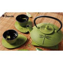 Японский чугунный чай с прядильной крышкой