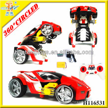 Hot!!! 2013 new style 8-Channels transformation rc car dancing car with 360 degree circled spin H116531