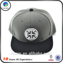 custom embroidered leather strap flat snapback hats