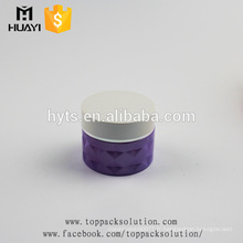 pot de crème de verre pourpre de luxe fait sur commande de 50ml pour l'emballage cosmétique