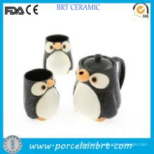 Cute Penguin Hot Ceramic Tea Set with Infuser