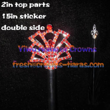 Red Crystal Pageant Scepters