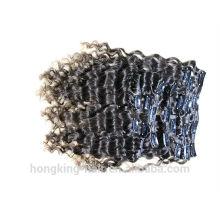 Feixes de cabelo brasileiro barato kinky encaracolado clipe em extensões de cabelo do cabelo brasileiro