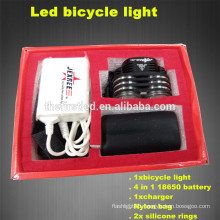 Multi-Function High Power 1800Lumens 2XCREE XML T6 LED silicone bicycle lights