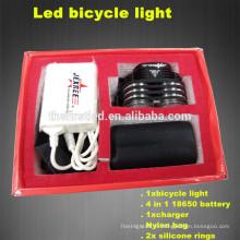 Многофункциональный высокой мощности 1800Lumens 2XCREE XML T6 светодиодный силиконовый велосипед огни