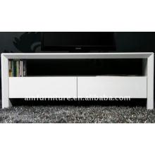 Hochglanz Weiß MDF TV-Ständer mit Schubladen