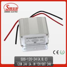 Conversor do impulsionador do conversor da fonte de alimentação de 120W 12VDC-24VDC 5A
