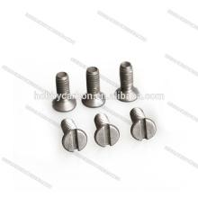 Tornillo / perno de aluminio de la cabeza avellanada hexagonal de la alta precisión M3 de los sujetadores
