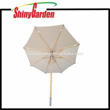 Luxury 2.6M Outdoor Patio Beech Parasol Single Color 280G Acrylic