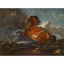 Hot-Sale Horse Paintings on Canvas Wall Pictures for Living Room (EAN-299)