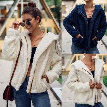 Wholesale Latest Design Thick Fall Autumn Plush Teddy Coat Women Fashion Excellent Winter Coat for Women