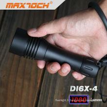 Maxtoch DI6X-4 en aluminium noir Waterproof LED torche plongée