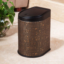 Egyptian Design Leather Press Poubelle (H-3LA)