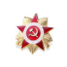 Bandera de esmalte insignia de premio con estrella de cinco puntas ((GZHY-JZ-018)