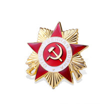 Enamel Flag Award Badge with Five-Pointed Star ((GZHY-JZ-018)