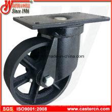 Ruedas giratorias de 6 pulgadas a 8 pulgadas de basura con rueda de hierro dúctil