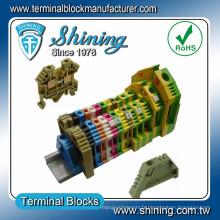 TF-G16 Type de mise à la terre égale à Wago Connecteur de fil vert jaune