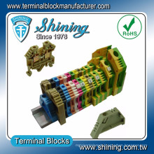 TF-G16 Din Rail Mounted 16mm Brass Earth Terminal Block Connector