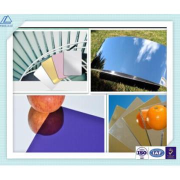 Алюминий Яркий / зеркальный / отражающий лист / пластина для мобильного телефона Shell / корпус / чехол