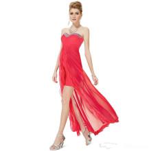 Net Yarn Wrapped Chest Longo Partido vestido de festa