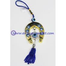 Horse Shoe Evil Eye Amulet Hanging for Car / Door